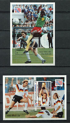 s6664) DOMINICA 1994 MNH** World Cup Football'94 - S/S X 2