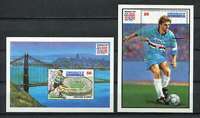 s6667) DOMINICA 1994 MNH** World Cup Football'94 - S/S X 2