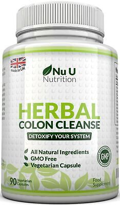 Herbal Colon Cleanse 90 Capsules 11 Active Ingredients Detox Bloating Gentle