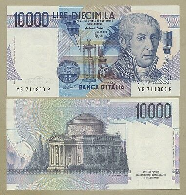 ITALY - 10,000 lire  1984  P112b  Uncirculated  ( World Banknotes )