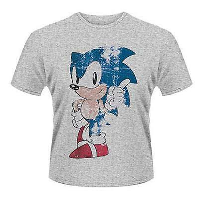 Sonic The Hedgehog - Sonic Distressed Effect Print T-Shirt - New & Official SEGA