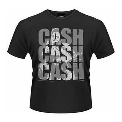 Johnny Cash - Cash Cash Cash Mens Short Sleeve Cotton T-Shirt - New & Official