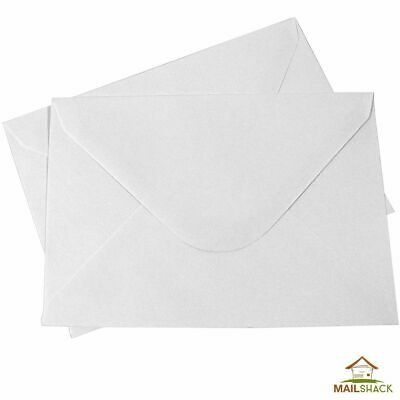White C6 Envelopes PREMIUM 100gsm Gummed Seal Plain HIGH QUALITY Post Postal