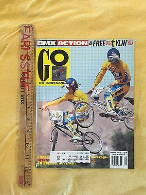 Nos Vintage Bmx Action And Freestylin's Go The Rider's Manual  Jan 1991