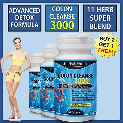 COLON CLEANSE CAPSULES 2000mg WEIGHT LOSS DIET DETOX COLON CLEANSE SLIMMING PILL