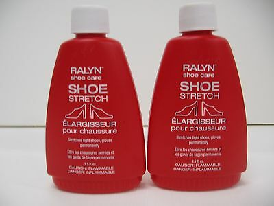 2 bottles Shoe Stretch Liquid  Leather Stretcher Red Bottle 3.5 fl oz each