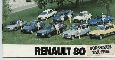 1980 Renault 4 5 12 14 16 18 20 30 Alpine A310 Small Brochure French my6104