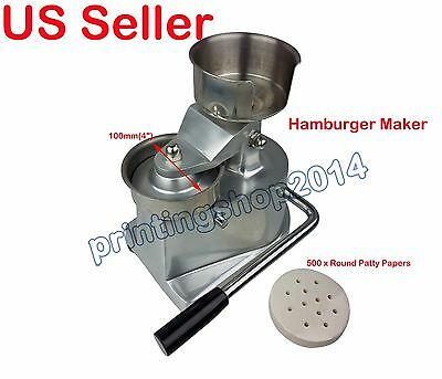"New  4"" Hamburger Burger Press Patty Maker Meat Patties Maker Machine"