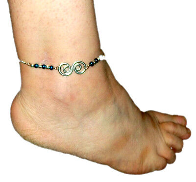 Pretty silver metal ankle chain with extension