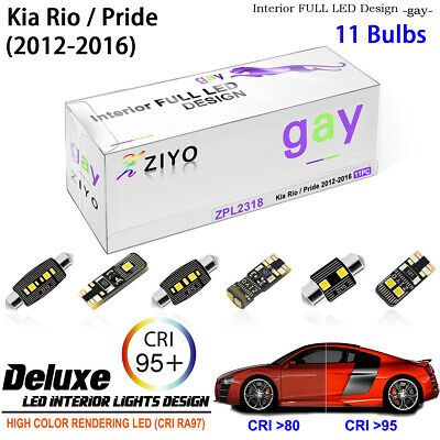 7 Bulbs LED Xenon White Lamps Interior Light Kit For Kia Rio / Pride 2012-2015