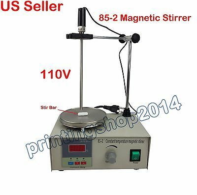 85-2 Magnetic Stirrer with Hot Plate Digital Thermostat Heating Mixer 110V