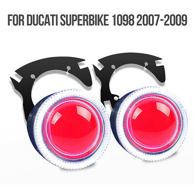 Fit Ducati 1098 2007-2009 Tailor-Made LED Angel Eyes HID Projector