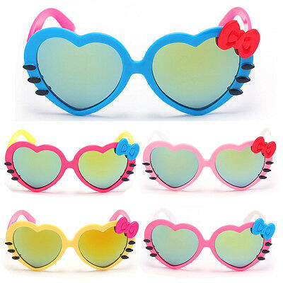 Children Heart Colorized Lens Sunglasses Cute Hiking Eyewear Boy Girl Lovely