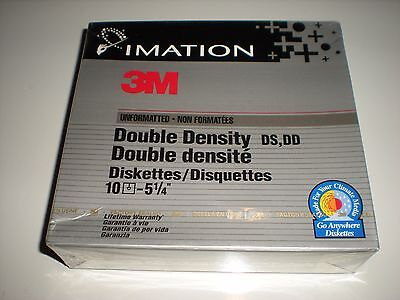 5.25 in. DSDD floppy disks. Double sided double density disks. 10-count.  New.