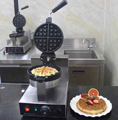 Commercial Electric Rotary Waffle Baker Waffle Making Machine 220V  110v A