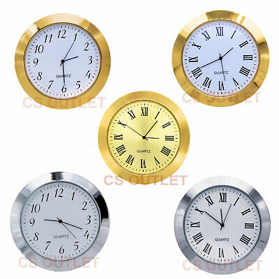 60mm Metal Bezel fit 55mm Hole, Clock / Watch Insert, Quartz Movement