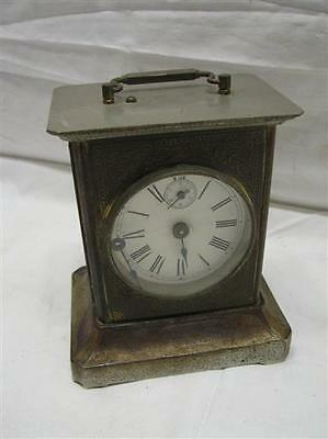 Antique Carriage Clock Music Box Chime Victorian w/Key Side Window