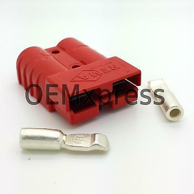 REMA SR 50 AMP red 24V connector with AWG 10 size terminals