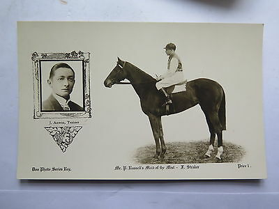 POSTCARD HORSE RACING DON PHOTO SERIES RUSSELLS HORSE MAID of the MIST c1920s