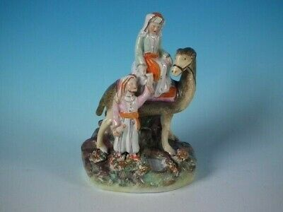 Staffordshire Pottery Lady Hester Stanhope with Camel Figure