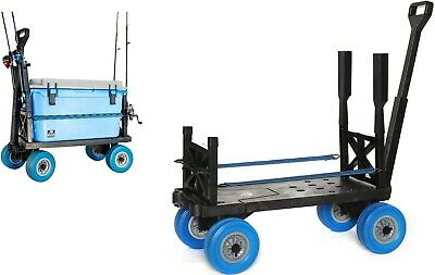 Surf Fishing Cart 4 Wheel Carts for the Beach Dolly Indoor Outdoor Pull Wagon