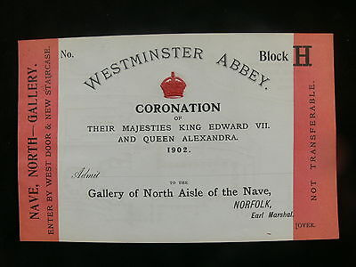 1902 Coronation of King Edward VII Official Invitation to Westminster Abbey