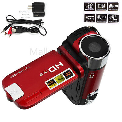 "16Mp 1080P Full Hd Camcorder Digital Video 2.7"" Tft Lcd Kamera 16X Zoom Dv Cam"