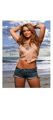 LINDSAY LOHAN ~ ON THE BEACH ~ 22x34 PINUP POSTER ~ NEW/ROLLED!