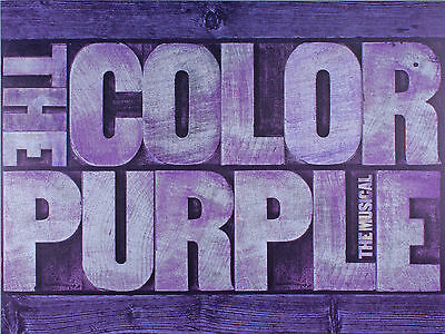 The Color Purple Broadway Souvenir Program- Jennifer Hudson