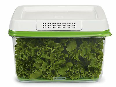 Rubbermaid FreshWorks 17.3 Cup Large Produce Saver Food Storage Container, Green