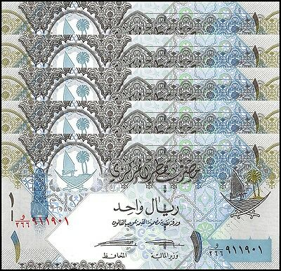 Qatar 1 Riyal X 5 Pieces (PCS), 2015, P-NEW, UNC