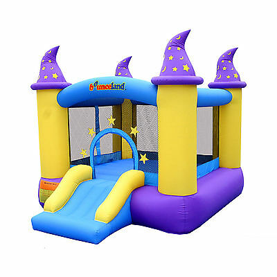 Bounce House Inflatables Kids Castle Jumper Slide With Blower Indoor Outdoor New