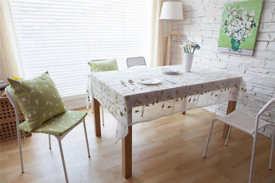 Leaf Print Vintage Pattern Sunflower Dinning Coffee Table Cotton Linen Cloth TP