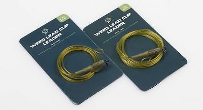 Nash D-CAM Weed Leader With Uni Ring Swivel Lead Clip & Tail Rubber