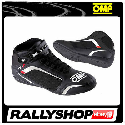 OMP KS-2 KARTING SHOES 44 Black CHEAP FAST DELIVERY WORLDWIDE Karting Rally Race