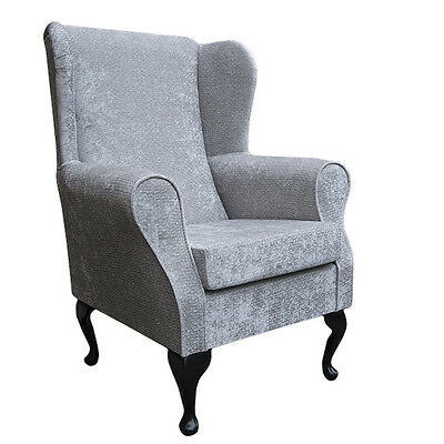 Silver Avanti Fabric Wing Back Orthopaedic Fireside Chair - NEW