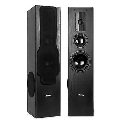 Altavoces Torres 3 Vias Beng 360W 2X180 Woofer Home Cinema Bass Reflex Hifi