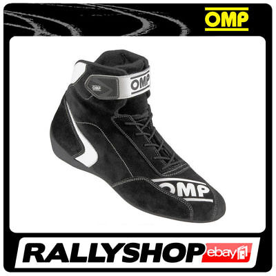 FIA Approved OMP First S Shoes, size 44 FREE DELIVERY WORLD! Black