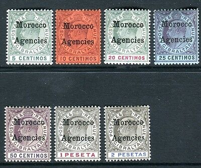 MOROCCO AGENCIES-1903-5  A mounted mint set to 2p Sg 17-23