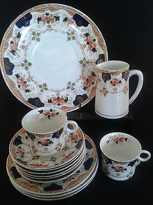 OLD ANTIQUE ROYAL STAFFORD IMARI PATTERN 4479 - 15 PIECE AFTERNOON TEA SET c1900