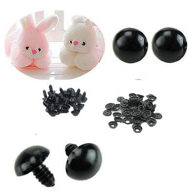 Safety Eyes Toy 6-14mm 100pcs HOT Plastic Black For Teddy Bear Animal/Felting