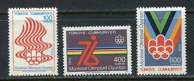31076) TURKEY 1976 MNH** Olympic Games, Montreal, 3v.