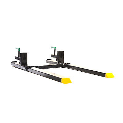 Titan Clamp On Pallet Forks Heavy Duty w/ Adjustable Stabilizer Bar 4000lbs