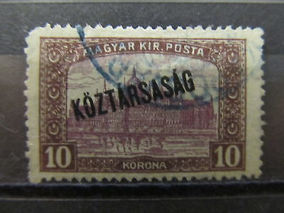 A2P14 HUNGARY OPTD 1918-19 10k USED