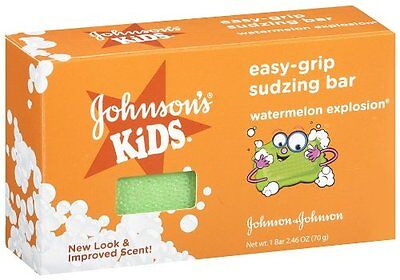 6 Pack - Johnson's Easy-Grip Sudzing Bar 2.45oz (70 g) Each