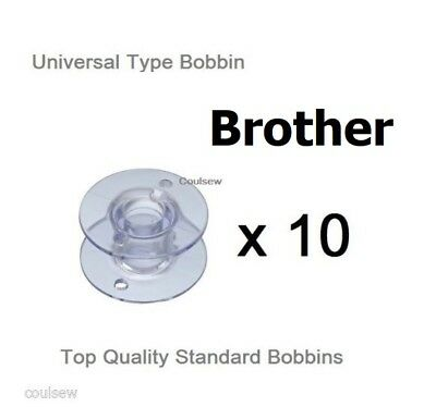 10 Universal Bobbins 11.5mm to fit Brother Sewing Machines Quality Guaranteed