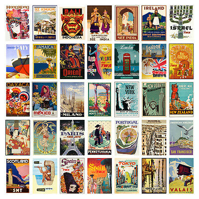 Vintage Retro Travel Holiday A4 A3 Posters (H-Y 60 Designs) Buy 1 Get 2 Free