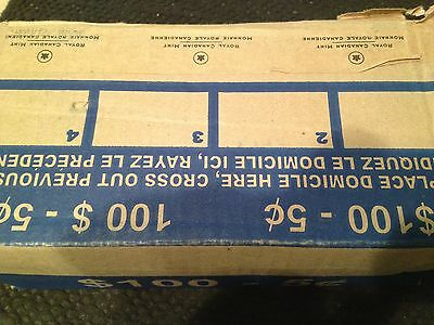 2015 - BANKERS BOX - 2015 Canadian Nickels - ^^50 shiny new rolls^^