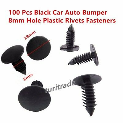 Black Nylon Xmas Tree Barbed Type Clips Retainers Qty 100 Pcs Part