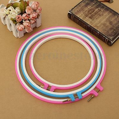 Elbesee Round Cross Stitch Ring Hoop Plastic Embroidery 8 9 10 Inch Sewing Craft